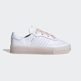 Adidas Sambarose W [FY3030] 女鞋 運動休閒 經典 穿搭 厚底 寬版鞋帶 愛迪達 白 粉紅