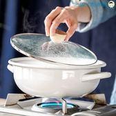 日式湯鍋加厚翻邊搪瓷雙耳【洛麗的雜貨鋪】