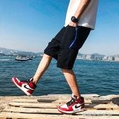 夏季破洞牛仔短褲男士五分潮流寬鬆薄款大碼休閒中褲男生潮牌  【快速出貨】