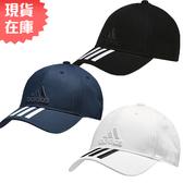 ★現貨在庫★ Adidas 6-Panel Classic 3-Stripes  帽子 老帽 休閒 三條線 黑 / 白 / 藍 【運動世界】