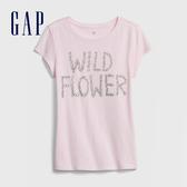 Gap 女童 創意風格印花短袖T恤 577845-新寶寶粉色