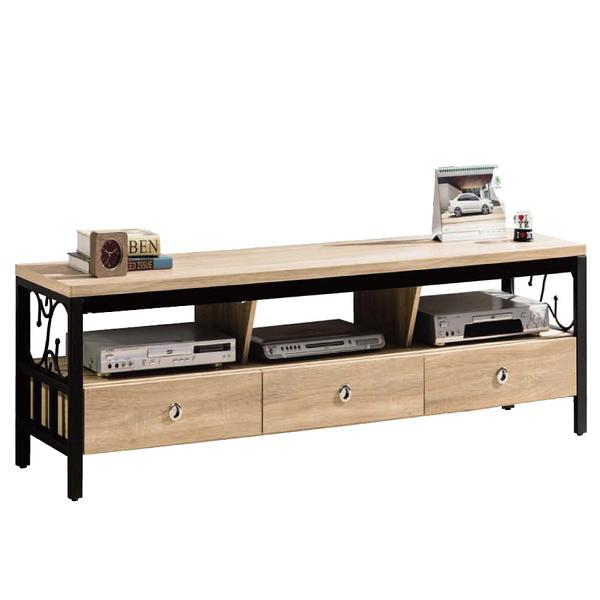 【采桔家居】米克比 時尚5尺木紋三抽電視櫃/視聽櫃