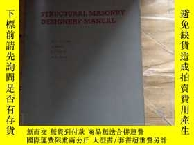 二手書博民逛書店Structural罕見Masonry Designer s M