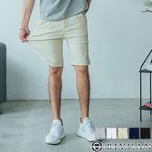 超彈力素面工作短褲【F55703】OBIYUAN 韓版修身剪裁休閒褲 共5色