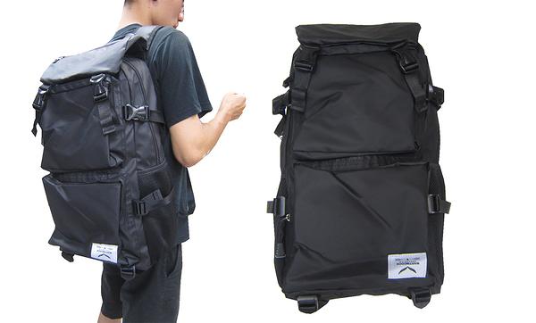 ~雪黛屋~MARTIN 後背包大容量可放A4資料夾14吋電腦主袋+外袋共五層科技防水尼龍布外MD019