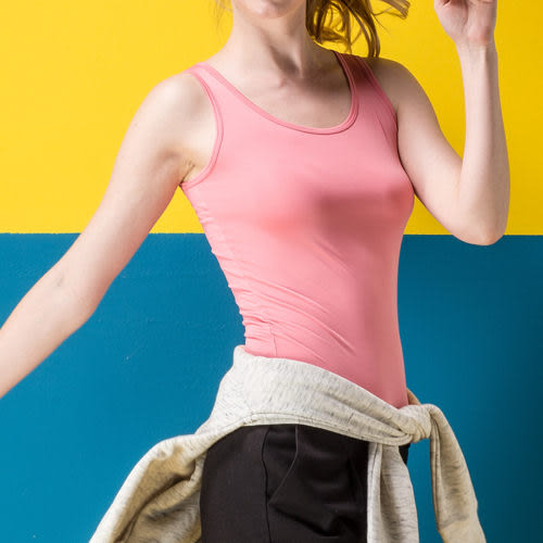 《MORINO》機能休閒抗UV速乾女背心-粉色