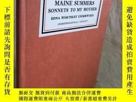 二手書博民逛書店Mosher珍品:詩集:Maine罕見Summers Sonne