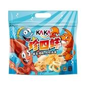 【KAKA 珍四鮮綜合包】蝦酥薄片 魷魚圈 蝦餅 魚酥 120g 餅乾 零食 團購