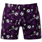 DADADO-足球 M-3L 印花平口內褲(紫)GH7299-PU