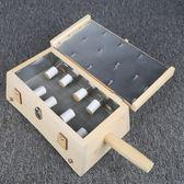 艾灸盒8孔柱插針實木製溫灸儀器具腰腹部背部頸椎翻蓋式八孔八針 初語生活館