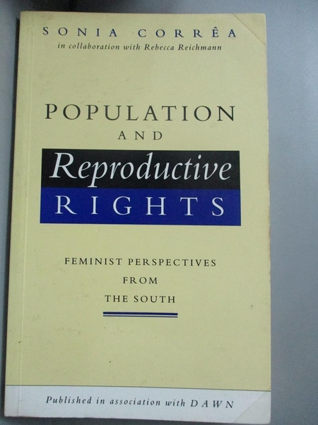 【書寶二手書T7/社會_NPN】Population and reproductive rights : feminis