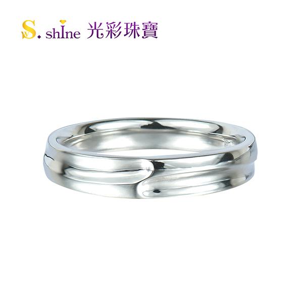 【光彩珠寶】婚戒 日本鉑金結婚戒指 男戒 閃耀愛戀