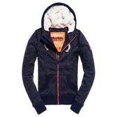 【蟹老闆】SUPERDRY 女外套 羔毛 雪花深藍