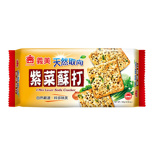 義美天然取向蘇打餅乾(紫菜)140g【合迷雅好物超級商城】