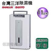 【信源】11公升 SANLUX台灣三洋微電腦除濕機 SDH-1143LA
