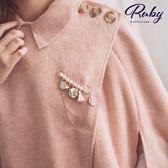 別針 韓國直送‧華麗珍珠水鑽蝴蝶流蘇垂墜胸針-Ruby s 露比午茶