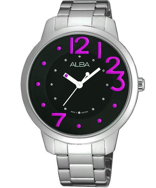 ALBA 雅柏 Fashion Lady 愛戀時尚手錶-黑/銀 VJ21-X033R