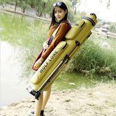 庭輝漁具包魚竿包硬殼防水魚包桿包多功能竿包釣魚包魚具包1.25米