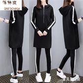 大碼套裝女 2019年秋季新款韓時尚氣質寬鬆休閒運動套裝女  YN759『寶貝兒童裝』