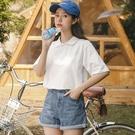 polo衫 Polo衫女短袖日系翻領T恤夏季2020年新款寬鬆半袖ins潮可愛上衣服