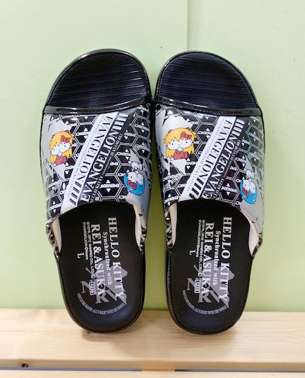 【震撼精品百貨】Hello Kitty 凱蒂貓~三麗鷗 Hello kitty 室內拖鞋~英文厚底#90891