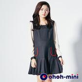 【ohoh-mini孕婦裝】甜美學院風孕婦洋裝