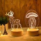 3d立體小夜燈少女比心插電創意卡通led臥室台燈麋鹿創意情人節生日禮物【莎芭】預購