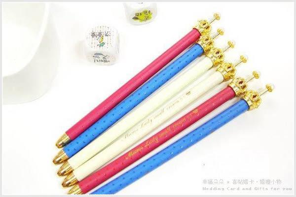 幸福朵朵*日韓文具-皇冠原子筆.皇冠筆.贈品.婚禮小物.文具.zakka雜貨小物批發價《不挑款》
