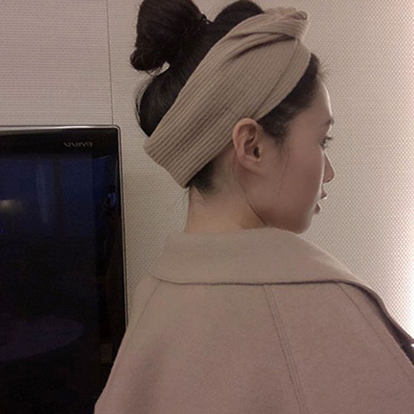 新款針織交叉鬆緊髮帶 洗臉髮帶女純色髮飾 韓版彈力瑜伽運動束髮帶【庫奇小舖】