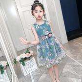 兒童洋裝—童裝女童夏裝連身裙新款女孩公主裙夏季兒童洋氣蓬蓬紗裙子 草莓妞妞