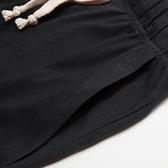 運動褲 夏季純棉運動跑步短褲透氣男士五分褲沙灘褲春季休閒寬鬆大碼中褲