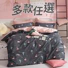 100%精梳純棉雙人加大床包三件組-多款...