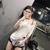 運動短袖女寬鬆跑步罩衫透氣速乾衣T恤半袖健身衣瑜伽上衣