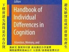 二手書博民逛書店Handbook罕見Of Individual Differences In Cognition-個體認知差異手冊