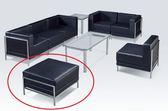 HY 597 9 103  式沙發組輔助沙發黑皮平面單張