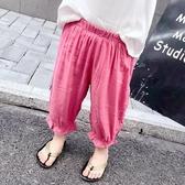 女童褲 女童裝夏裝韓版休閒兒童防蚊褲女寶寶小孩燈籠褲九分褲【雙十二快速出貨八折】