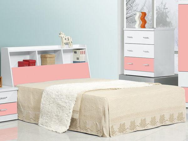 床架 床頭箱.床頭片 CV-187-1 青少年粉紅5尺書架型床頭 (不含床底)【大眾家居舘】