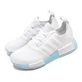 adidas 休閒鞋 NMD_R1 W 白 藍 女鞋 boost 襪套式設計 運動鞋【ACS】 EF4273