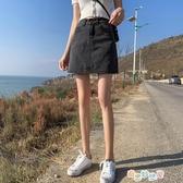 A字裙 牛仔短裙a字裙女春夏2020新款高腰復古包臀裙褲ins超火的半身裙子【快速出貨】