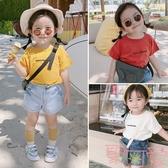 女童短袖T恤夏嬰兒童純棉半袖韓版上衣【聚可愛】