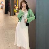 網紅套裝女2020新款初早秋時尚氣質顯瘦減齡洋氣兩件套開衫+裙子