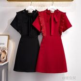 200胖人超仙洋裝特大碼女裝240斤加肥加大胖mm顯瘦雪紡裙子夏季 韓語空間