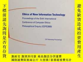 二手書博民逛書店Ethics罕見of New Information Techn