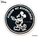 日本限定 迪士尼 米奇 深藍 圓形 地毯