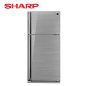 [SHARP 夏普]583公升 自動除菌離子 鏡面玻璃 變頻雙門電冰箱 SJ-GD58V-SL
