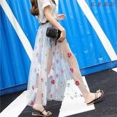 衣普菈 網紗裙單層外搭透視透明裙罩仙女A字裙防曬 衣普菈