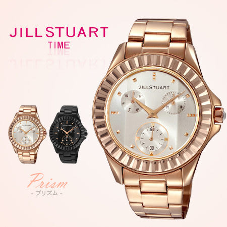 JILL STUART女孩玫瑰金鋯石腕錶 真三眼優雅時尚手錶 日本限量 柒彩年代【NE1015】原廠公司貨
