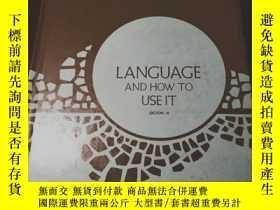 二手書博民逛書店language罕見and how to use it (boo