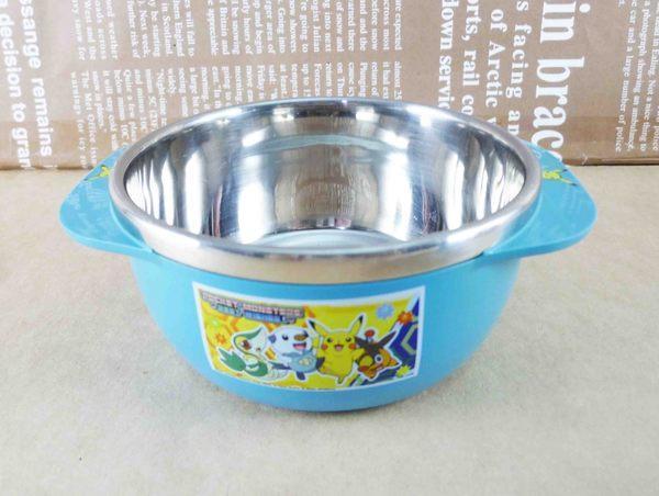 【震撼精品百貨】神奇寶貝_Pokemon~不鏽鋼碗-皮卡丘(藍)
