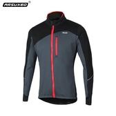 歐冬季騎行服長袖上衣 抓絨防風保暖山地自行車夾克男外套